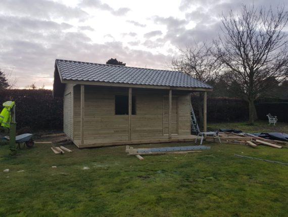 Completed garden room